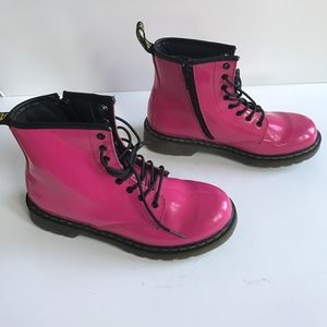 Dr. Martens Doc Doctor Delaney Pink Combat Boots 5